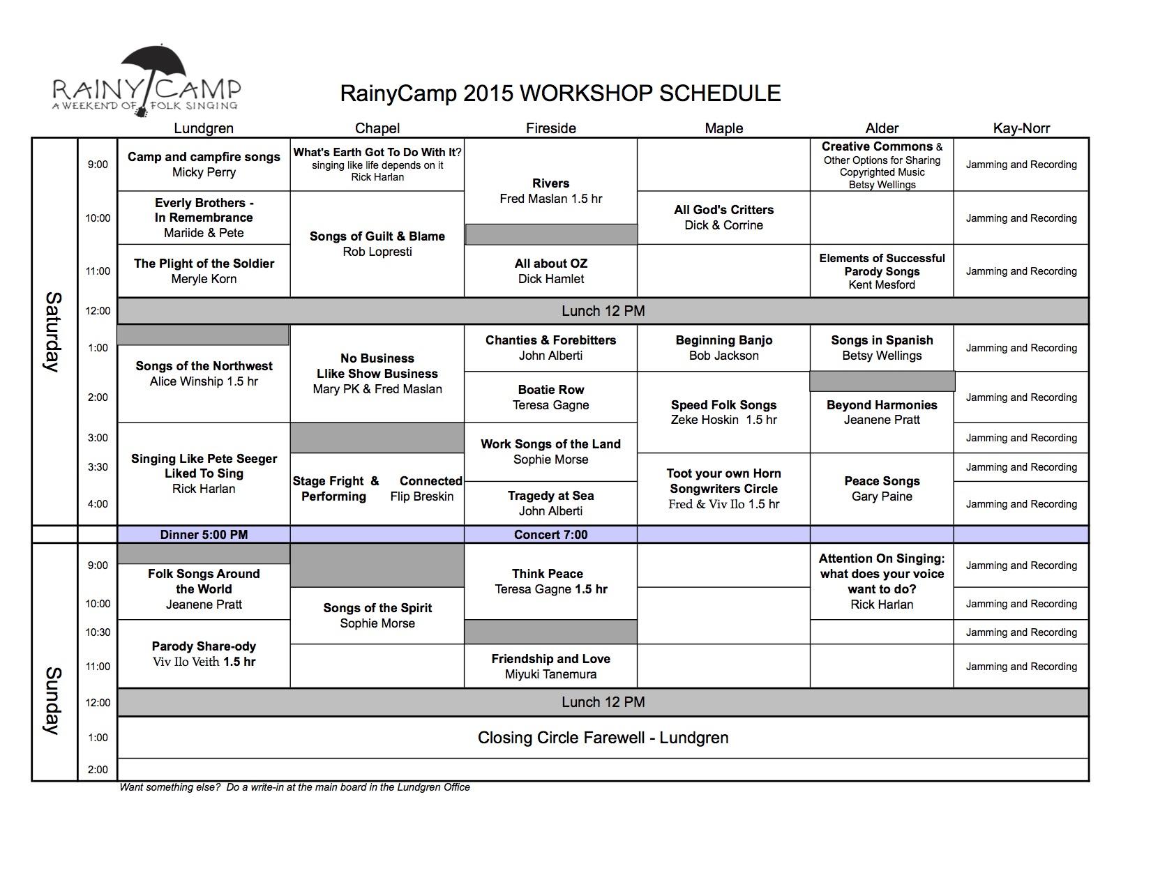 Workshop schedule 2015-v3